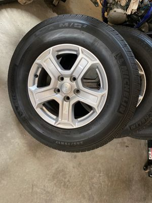 Jeep wrangler wheels and tires brand new take offs for Sale in Southington, CT