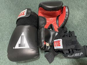 Boxing gloves with hand wraps for Sale in Raleigh, NC
