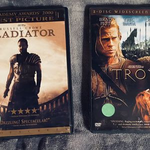 2 DISC EPIC DVD MOVIE SET: Includes Troy 2 Disc Special Edition & Gladiator Academy Award Winner Best Picture for Sale in Mansfield, TX