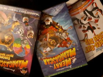 3 DreamWorks DVDs Madagascar and The penguins for Sale in Belle Isle,  FL