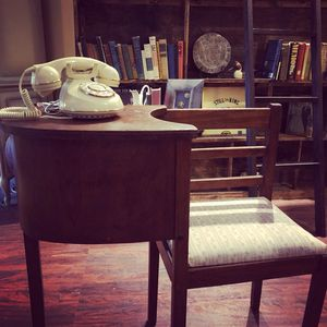 30x14x31 antique vintage telephone table conversation desk. Really nice. 65.00. 212 North Main Street buda furniture for Sale in Austin, TX