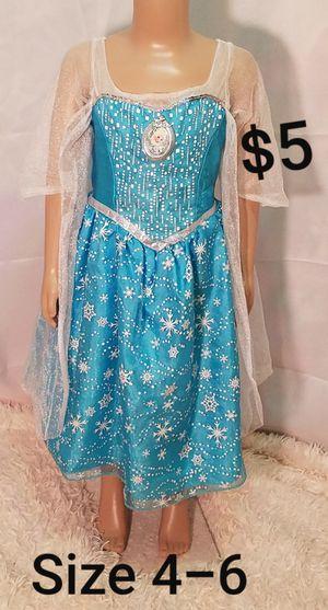 DISNEY FROZEN ELSA girls Sz. 4-6 dance costume fancy pageant dress up ballet princess Halloween for Sale in Dale, TX