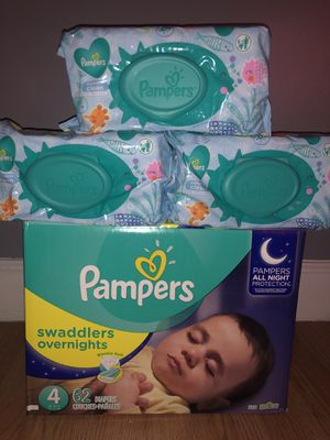 Pampers swaddlers overnight!! for Sale in Jonesboro, GA