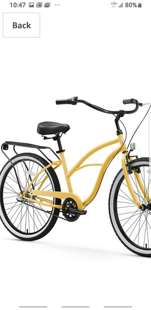 Sixthreezero Women's Cruiser Bike with Rear Rack 26-Inch, 3 speads for Sale in Las Vegas, NV