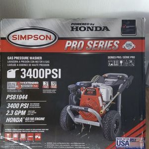 BRAND NEW, Simpson PRO Series 3400PSI Gas-Powered Pressure Washer PS31044. NUEVA for Sale in Baldwin Park, CA
