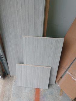 Closet Shelving Book Shelving PC's Gray 15 Each Box Dimensions In Discription for Sale in Jonesboro,  GA