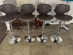 Brand new set of 4 brown bar stools (vista) / brown pub stools (height adjustable and swivel) for Sale in Helotes, TX