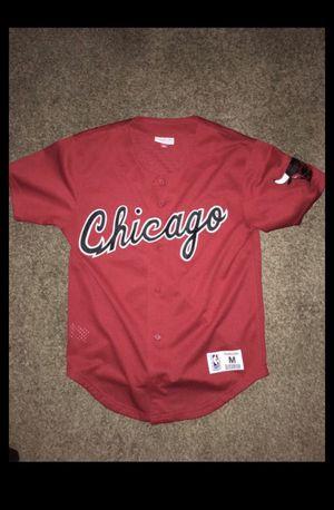 Chicago bulls baseball jersey men's size medium for Sale in Bexley, OH