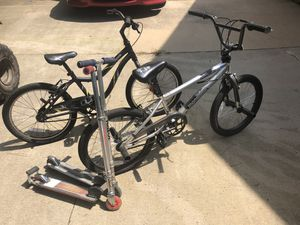 Boys BMX bicycles and razor scooters for Sale in Newborn, GA