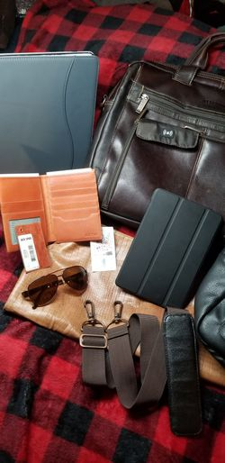 leather laptop case wallet and leather backpack for Sale in Redmond,  WA