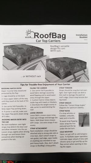 USA Roofbag 15 cubic feet. for Sale in Las Vegas, NV