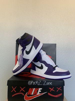 Jordan retro 1 Court purple for Sale in Watsonville, CA