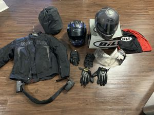 Scorpion Exo armored motorcycle jacket, KBC helmet, and accessories for Sale in Charlotte, NC