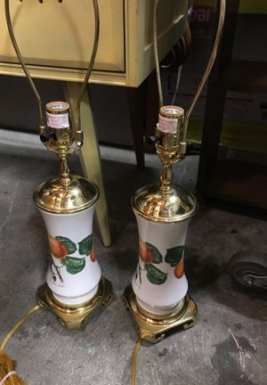 The royal apricot lamps like new no shades for Sale in Tacoma, WA