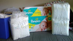 Pampers size 1diapers for Sale in Hesperia, CA