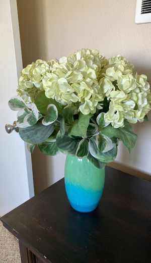 Faux flower arrangement and vase for Sale in San Diego, CA