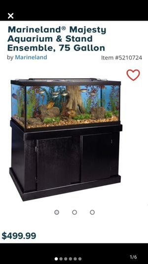 75 Gallon Fish Tank, Stand and Set Up for Sale in Warren, MI