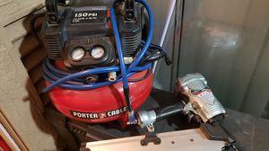 Compressor hose nail gun for Sale in Modesto, CA
