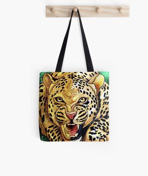 Tiger print tote bag for Sale in Fort Worth, TX