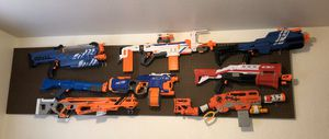 24 large nerf guns with extra magazines and bullets for Sale in Fresno, CA
