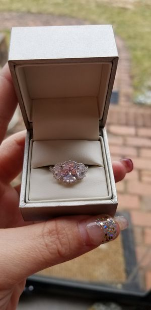 CZ sterling silver engagement/fashion ring size 6 for Sale in Harrisonburg, VA