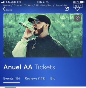 Tickets for Anuel AA for Sale in San Jose, CA