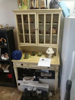 antique style country French secretary desk hutch one piece from glabmans interiors cost 1,100$ for Sale in Costa Mesa, CA