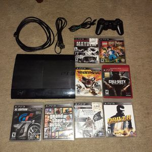 PS3 250GB and 8 games for Sale in Nahant, MA
