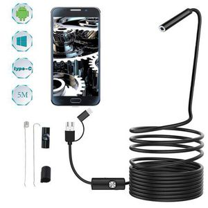Endoscope Inspection Camera - Equipped 8.0mm lens and 3 in 1 USB/Micro USB/Type-C for HD Borescope Interface - Waterproof Endoscope Camera for Androi for Sale in Pomona, CA