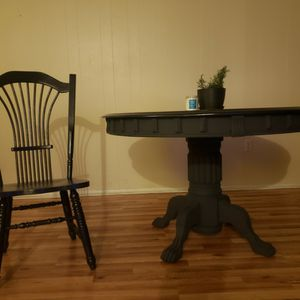 Farmhouse Dining Table W/ 4 Chairs for Sale in Wheat Ridge, CO