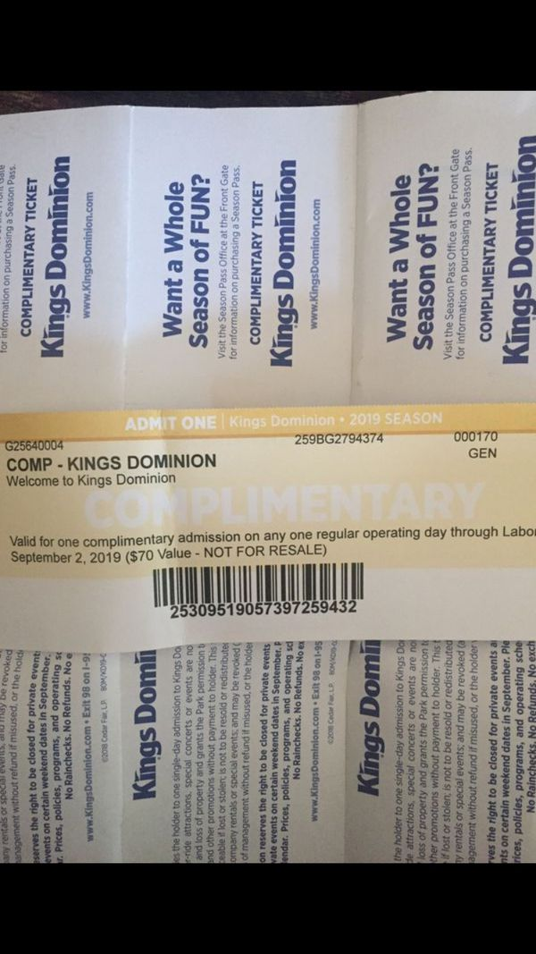 Kings Dominion Tickets