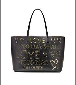 Victoria's Secret Big LOVE Tote in Black & Gold for Sale in Park Ridge, IL