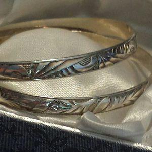 Vintage 1930's Art Deco Danecraft Sterling Silver Bangles (2 in stock) for Sale in Lawrenceville, GA