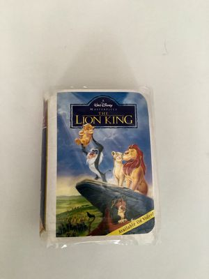 1996 Disney Masterpiece The Lion King Figure McDonalds Happy Meal Toy VHS box for Sale in Chicago, IL