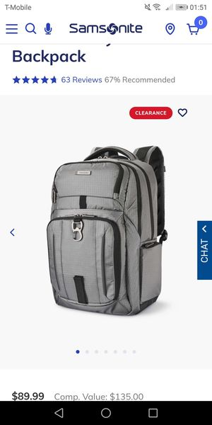 Samsonite tectonic easy rider backpack - new for Sale in Naperville, IL