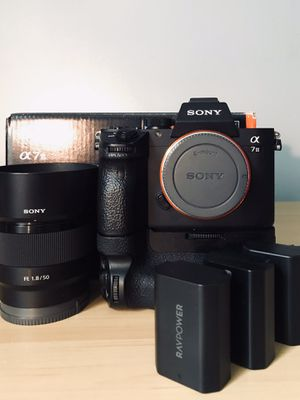 Sony A7iii + Sony 50mm lens (F) 1.8 + Battery Grip + Two Extra Batteries for Sale in CT, US