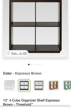 "13"" 4 Cube Organizer Shelf Espresso Brown - Threshold for Sale in The Bronx,  NY"