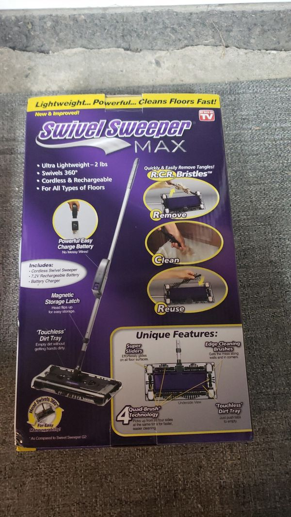 Swivel sweeper max as seen on tv