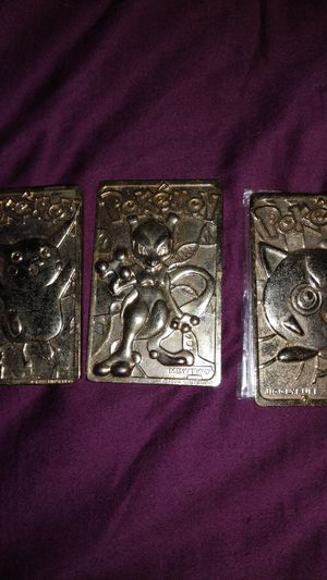 Pokemon gold plated cards for Sale in Belton, SC
