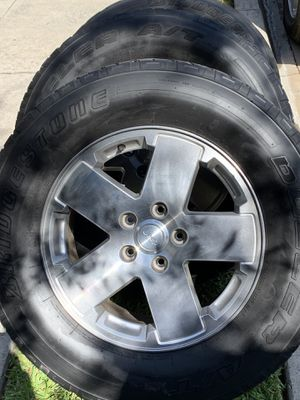 Jeep wheels 255/70/18 for Sale in Arcadia, CA