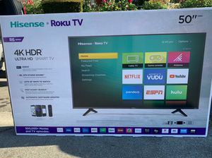 50 INCH HISENSE 4K HISENSE SMART TV ROKU HDR BRAND NEW for Sale in Anaheim, CA