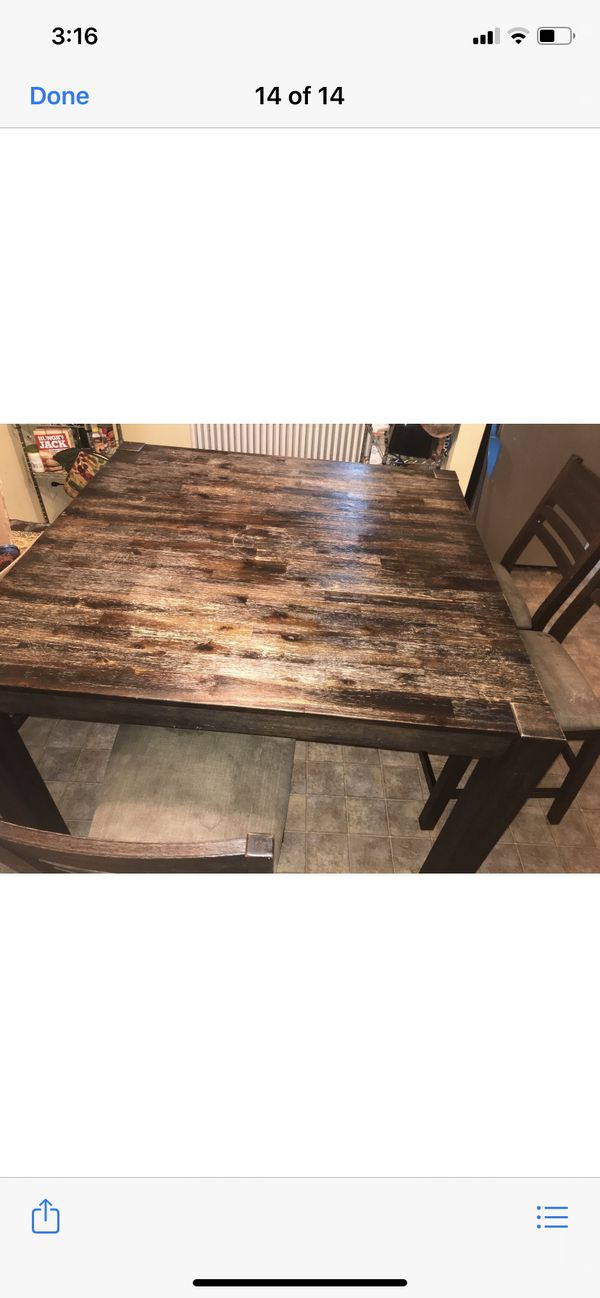 Dining room set with bench/ 4 chairs