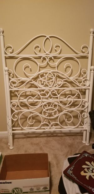 Twin, white metal bed frame with head and foot board for Sale in Gainesville, VA