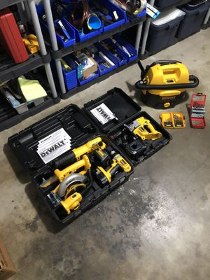 Dewalt 18V Combo Kit plus Jig Saw Vacuum & Drill Bit Sets for Sale in Santa Fe Springs, CA