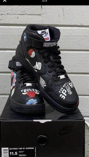Nike Air Force 1 Mid Supreme NBA Black for Sale in Hillsboro, OR
