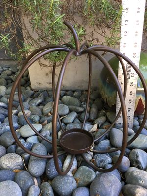 Iron Pumpkin Candle Holder for Sale in Bulverde, TX