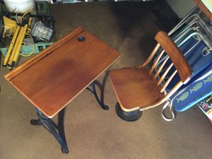 Antique School Desk and Chair for Sale in Westwood, MA