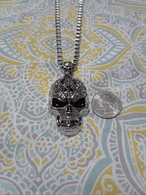 Stainless steel skull necklace for Sale in Waukegan, IL