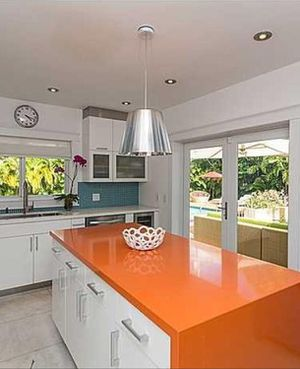 Contemporary silver kitchen island pendant light for Sale in Coral Gables, FL