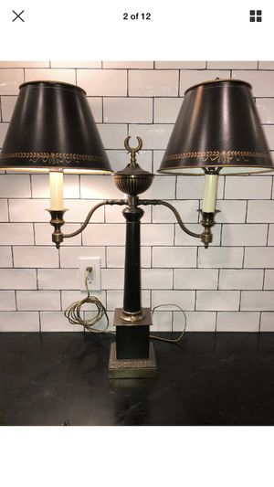 Vintage dual black and gold lamp for Sale in Arroyo Grande, CA